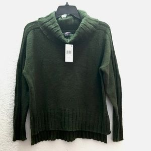 Hooked Up by IOT Cowl Neck Knitted Green Sweater